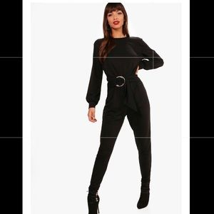 Black long sleeved jumpsuit